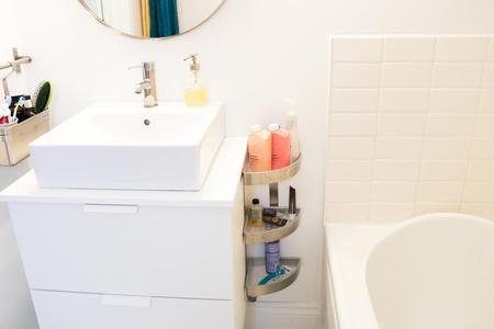 Add Storage to Your Pedestal Sink