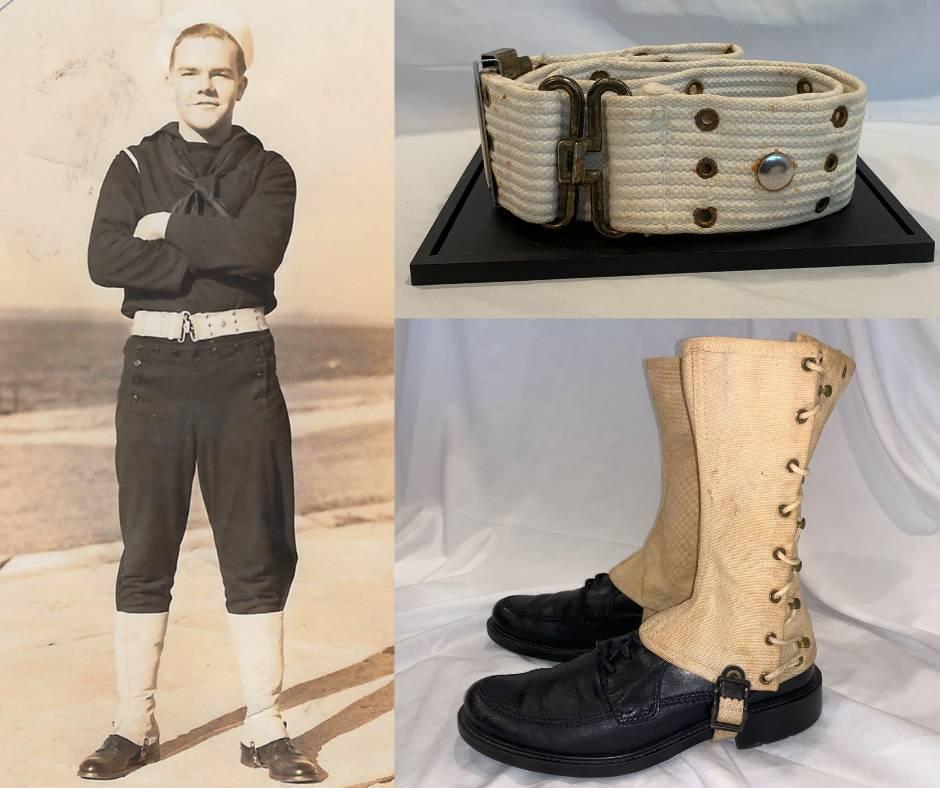 WWS US Navy Belt and Leggings